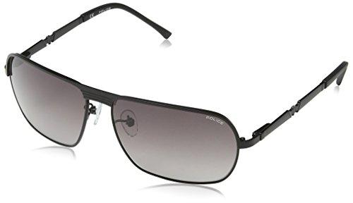 Police Metal Square Sunglasses in Matte Black S8745 0531 - Police For 2012 Sunglasses Men