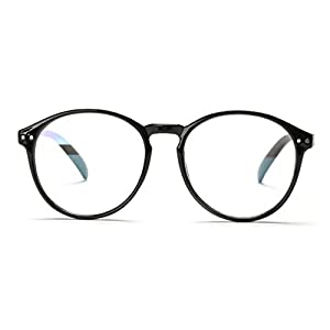 V House Womens Fashion Horn Rimmed Oval Round Circle Clear Lens Glasses C1