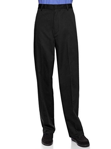AKA Half Elastic Flat Front Men's Slacks Black 56 Short 56W x - Black 56