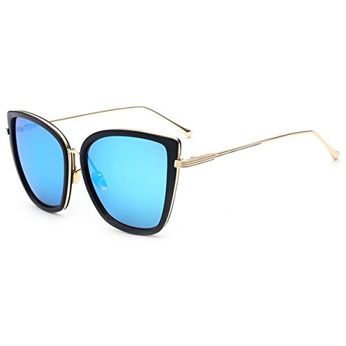 Women's Modern Fashion Mirror Cat Eye Sunglasses Goggles Personality Colorful Wild Wayfarer Outdoor - Sunglasses Wood Wild