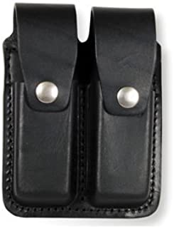 product image for Boston Leather 5601HS-3 Double Mag Pouch 9mm Black Basketweave