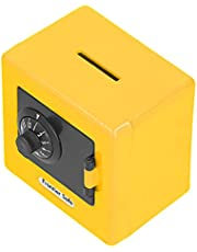 Safe Coin Cash Banks, Large Space Money Storage Case Develop Good Financial Concepts for Daily Use for Kids(Yellow)