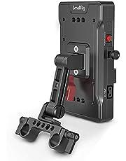SMALLRIG V Mount Battey Adapter Plate voor BMPCC 4K & 6K & 6K Pro, DSLR-camera's, Wordt Geleverd met 8V/12V/14.2V D-Tap/5V/2A USB-uitgangspoorten en 15 mm Staafklem - 3204
