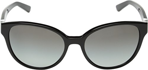 DKNY Women's DY4117 Cateye Sunglasses, Black & Gray Gradient, 55 mm