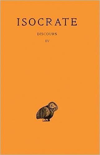 Téléchargement Isocrate. Discours, tome 4 pdf