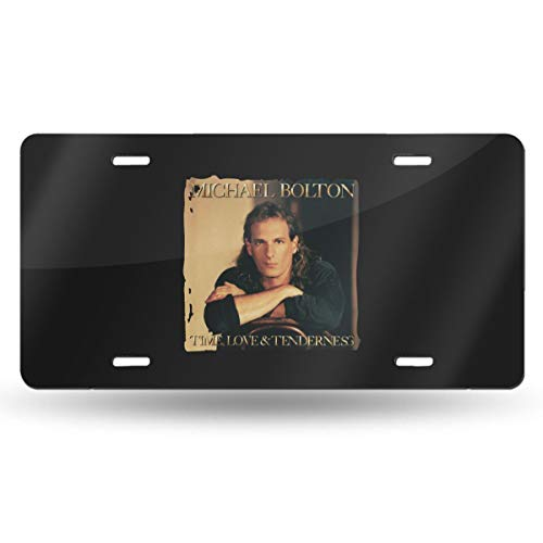 Bayarsea License Plate Michael Bolton Time Love & Tenderness 3D Funny Auto Car Tag Metal ()