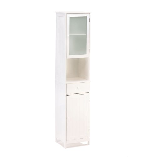 Lakeside Tall Storage Shelving Display Organizing Cabinet -