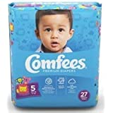 ATTENDS Baby Diaper Comfees Tab Closure Size 5 Disposable (#CMF-5, Sold Per Case)