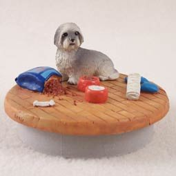 Conversation Concepts Miniature Lhasa Apso Gray w/Sport Cut Candle Topper Tiny One ''A Day at Home'' by Conversation Concepts