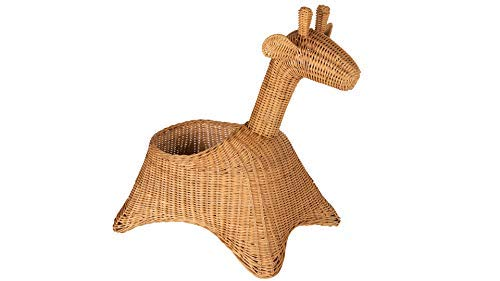 Kouboo 1060136 Wicker Giraffe, Naural Color Storage Basket, Brown