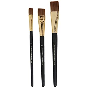 FolkArt Plaid Nylon Brush Set, 50559 Brown (3-Piece)