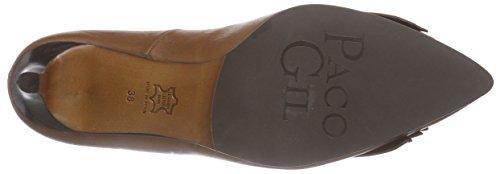 Paco Gil P2896 - zapatos de tacón cerrados de cuero mujer marrón - Braun (York)