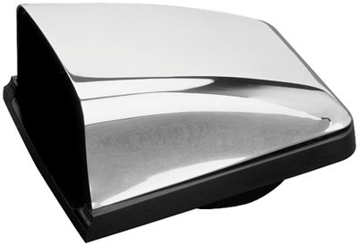 Sea Dog Line 3313201 Stainless Steel Cowl Vent with Black Plastic Base ()