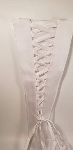 (Corset Kit Zipper Replacement for Wedding and Bridal Gown for Easy Alteration Lace-Up to Make Dress Bigger and Fit Better White)