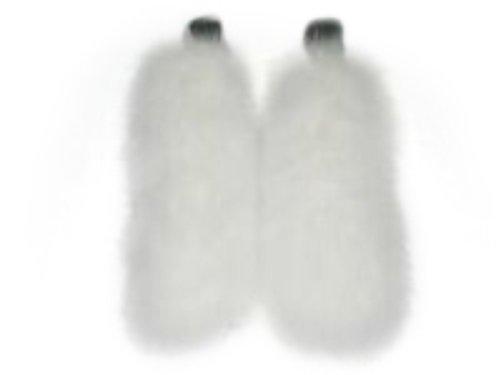 Ivory Fox Cuffs w/Velcro Closure by FursNewYork