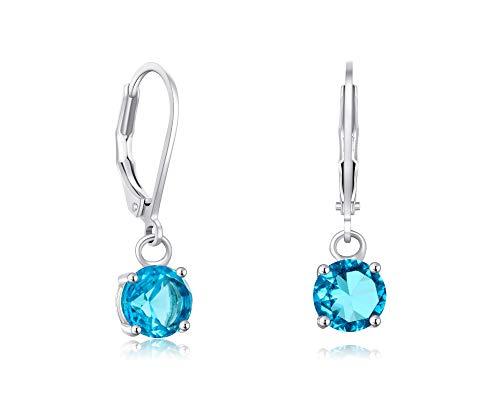 (Buyless Fashion Girls And Women Dangle Earrings Silver CZ Fashion Jewelry - EDGRNDAQU)