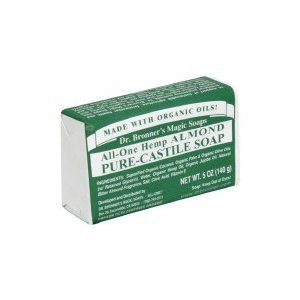 Dr Bronner Bar Soap Organic Almond 5 oz ( Multi-Pack) by Dr. Bronner's