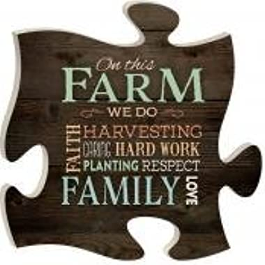 P. Graham Dunn Puzzle Piece Print Frame Panel Art On This Farm
