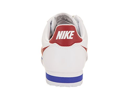 Nike Wmns Classic Cortez Leather, Zapatillas de Gimnasia para Mujer Blanco (White/varsity Red/varsity Royal)