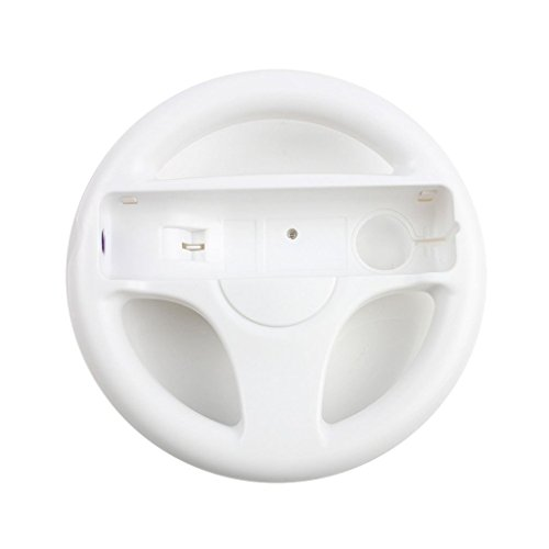 GH 2Pcs Wii(U) Wii Wheel for Mario Kart 8 and Other Nintendo Remote Steering Games , Wii Steering Wheel - Original White (6 Colors Available)