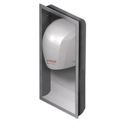 World Dryer WRLKJR973K1 Airforce Stainless Steel Hand Dryer Recess Kit