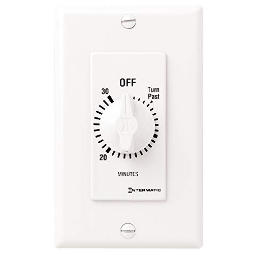 Bathroom Fan Timer Switch - Intermatic FD30MWC 30-Minute Countdown Wall Timer for Fans and Lights, White