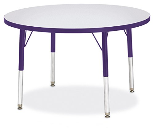 Berries 6488JCE004 Round Activity Table, E-Height, 36″ Diameter, Gray/Purple/Purple For Sale