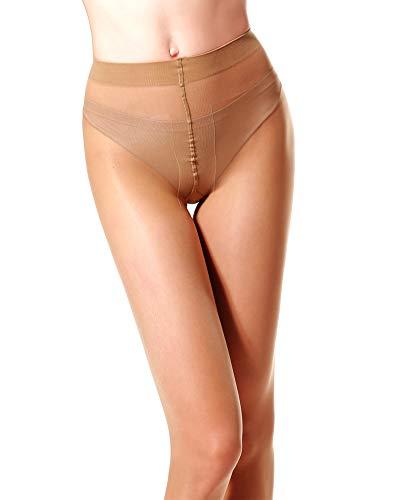 d204a0ed7 MERYLURE 40 Den Semi Sheer Pantyhose Control Top Sexy T Crotch Shadow Toe  Tights