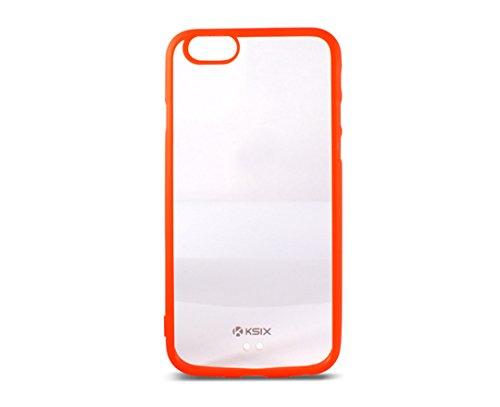 Ksix B0925CF07 Fusion transparent Edge TPU Hard Cover für Apple iphone 6 11,2 cm (4,7 Zoll) rot