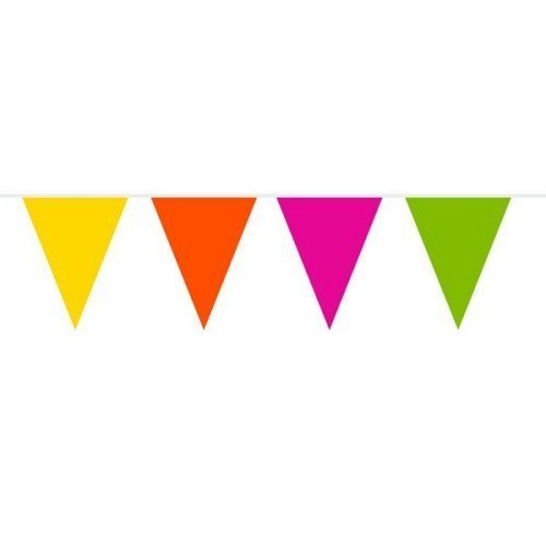 Party Decorations Assorted Colour Flame Retardant Bunting Flags X/Large- 10 Meter by Folat by Creative