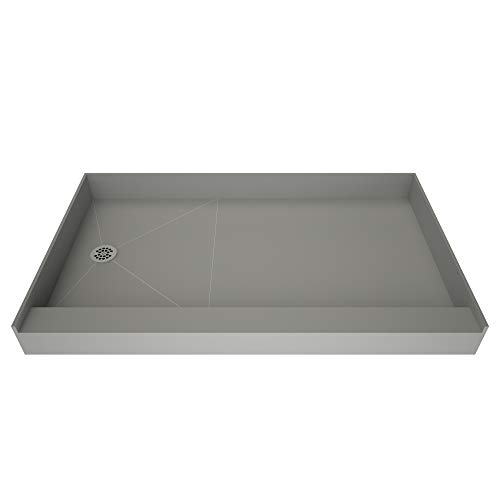 30 Left Drain (Tile Redi USA P3048L-PVC-13x6-4.5-4.5 Redi Base Single Curb Shower Pan with Left Drain, 30