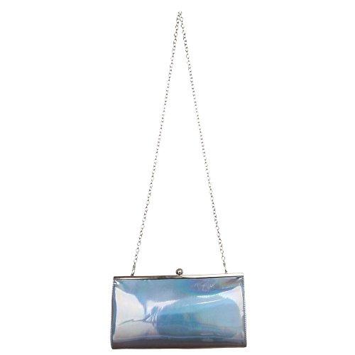 Ital-DesignClutch-tasche Bei Ital-design - Bolso de botón Mujer gris plateado
