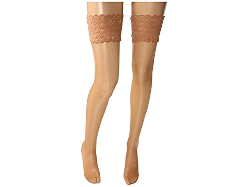 (Wolford Satin Touch 20 Denier Evening Thigh Highs, Medium, Gobi)
