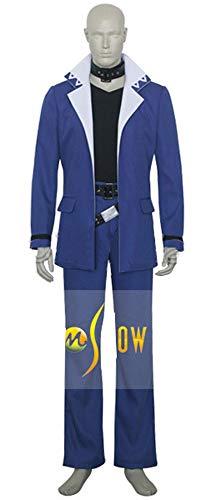 Mtxc Men's Yu-Gi-Oh Cosplay Costume Yugi Mutou Full Set Size Small Blue]()