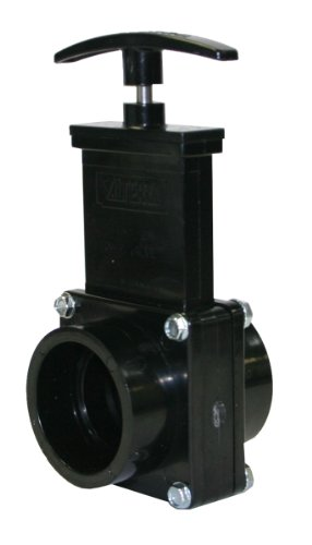 Valterra 7101 ABS Gate Valve, Black, 1-1/2