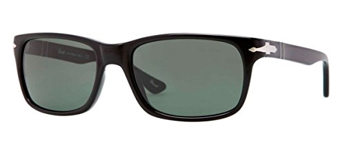 Persol Men's PO3048S Sunglasses Black/Crystal Green 55mm