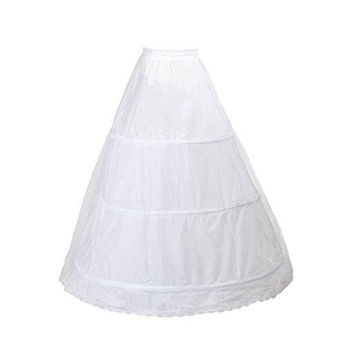 TUKA Reifrock 3 Ring verstellbar, Underskirt Unterrock, Petticoat Krinoline, verfügbar Größen, TKB0005