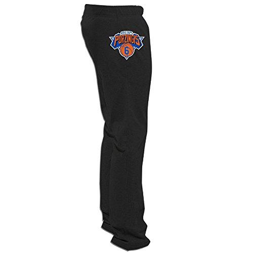 Jade Geek #6 Kristaps Porzingis Basketball New York Knicks Pants For Mens Black Size (Paul Pierce Youth Jersey)