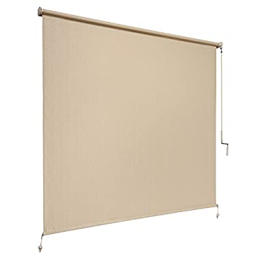Coolaroo Exterior Cordless Roller Shade 8ft by 6ft Sesame