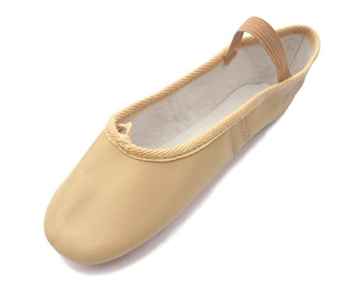 Roch Valley Ophelia Leather Ballet Shoes Full Suede Sole Pre-attached Elastics Child Size 6 to Adult Size 8 Pink Yru7QRKG5