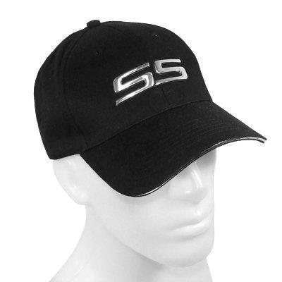 (John Rock Star SS Chrome Metal Look Black Baseball Hat )