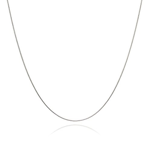 ian Thin Snake Chain Necklace, 16 Inches (Loop Sterling Silver Chain)