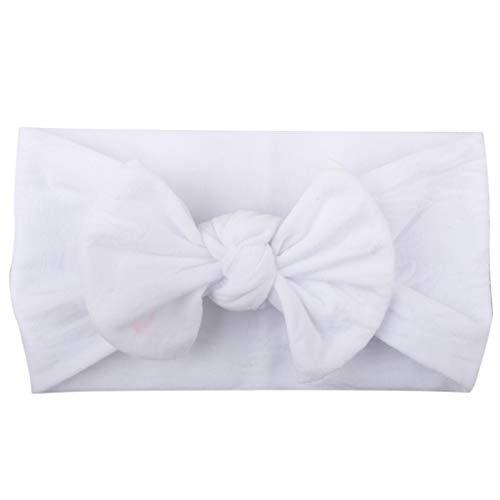 Orcbee  _Baby Girls Hairband Toddler Turban Solid Headband Hair Band Bow Accessories Headwear (U)