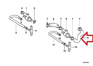 amazon com bmw e30 heater hose inlet for additional thermostat s rh amazon com Heater Schematic Water Heater Schematic