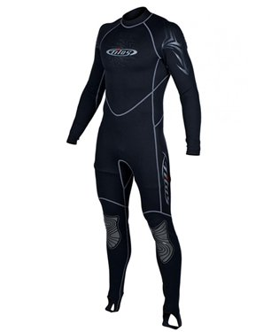 1mm Tilos Mens Metalite Jumpsuit Wetsuit Scuba Diving Warm Water Full Wet Suit, -