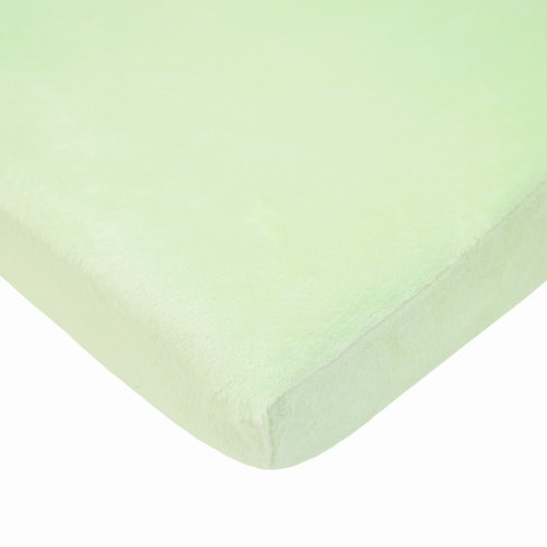American Baby Company Fitted Portable/Mini-Crib Sheet, Heavenly Soft Chenille,Celery Chamois Chenille