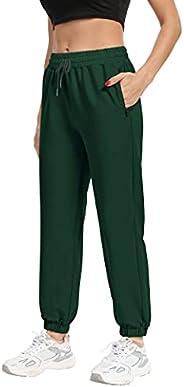 GALASALA Sweatpants for Women with Zipper Pockets Athletic Joggers Workout Lounge Pants Jogging Pants