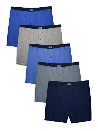 Fruit of the Loom Men's Tag-Free Boxer Shorts (Knit & Woven)