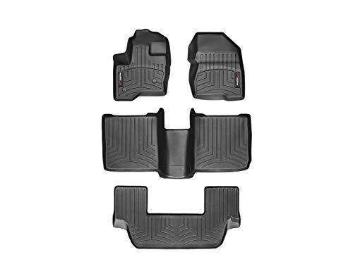 WeatherTech Custom Fit FloorLiner for Ford Flex -1st, 2nd, 3rd Row (Black) (Ford Flex Floor Mats)