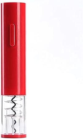 Sacacorchos automático de vino para batería seca de vino tinto Kit de abridor de botellas de vino eléctrico sacacorchos inalámbrico con cortador de papel de aluminio herramientas de cocina, rojo